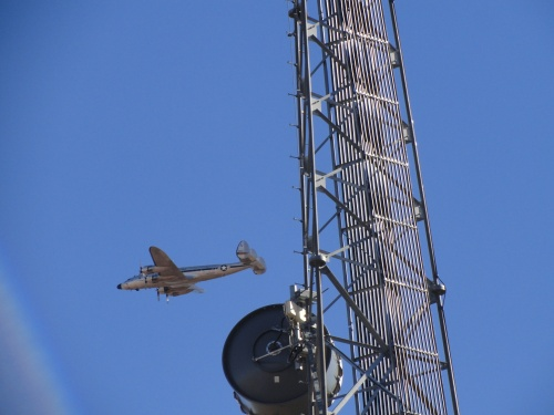 False perspective: Valle's communications tower is a few feet from the photographer while 'Bataan' is much farther away.