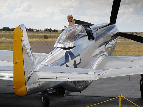 The P-51 was kept busy flying passengers all day.
